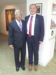 Sir Fazle Hasan Abed – Founder and Chairperson BRAC and Dr Andrej Simončič, Director of Agricultural Institute of Slovenia