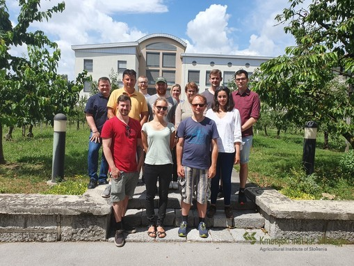 Group photo at Agricultural Institute in Ljubljana, 18.6.2019
