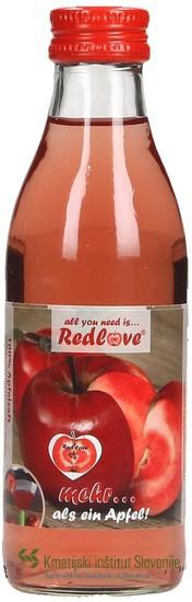 Eden od produktov predelave rdeče mesnatih jabolk je rdeče obarvan jabolčni sok. Fotografija: splet